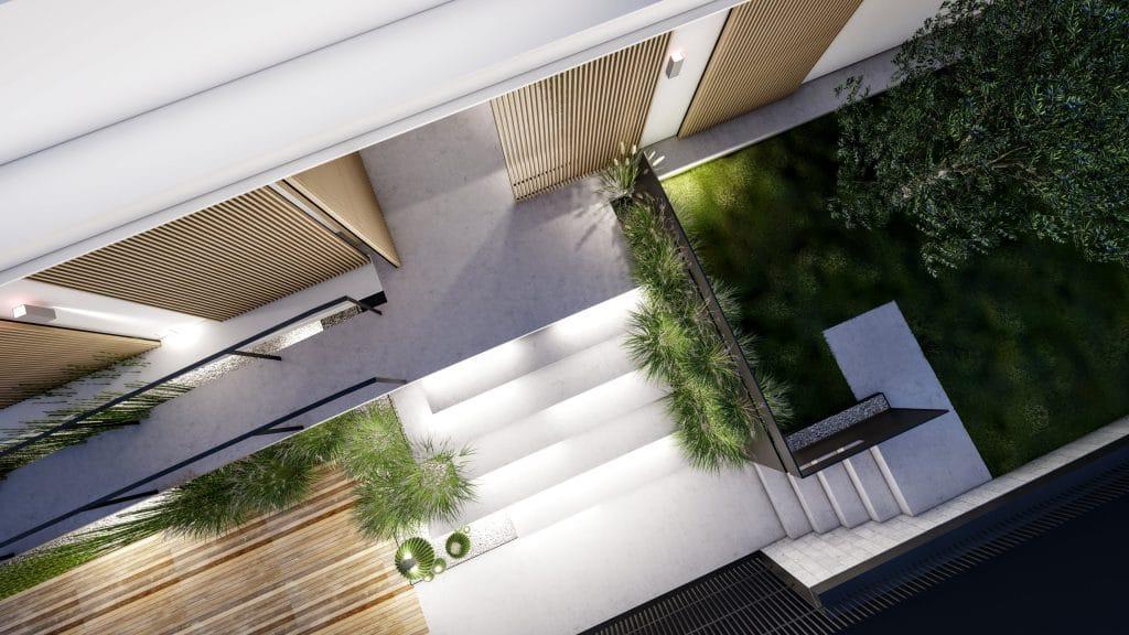 תכנון כניסה לבית פרטי